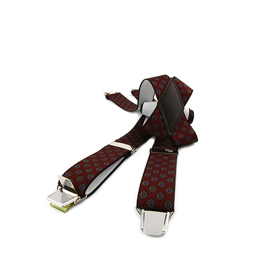 Bordeaux Patterned Braces