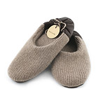Brown Cashmere Slippers