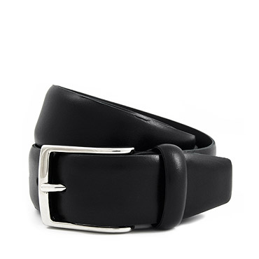 Black French Calfskin Belt