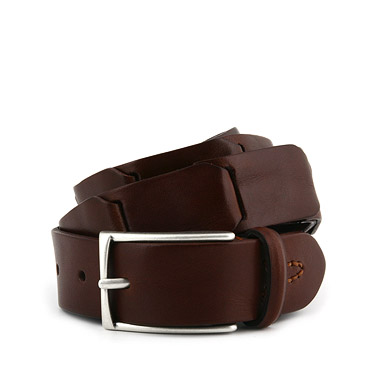 Inlay leather belt