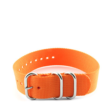 Natostrap Orange Solid Color 22mm