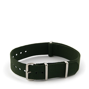 Natostrap Green Solid Color 18mm