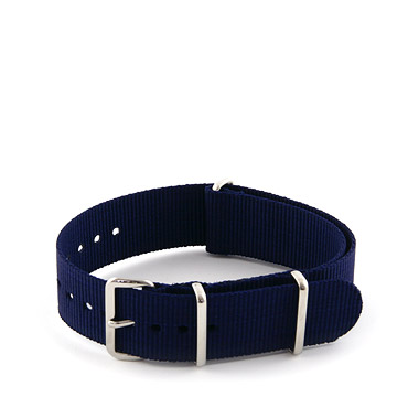 Natostrap Blu Solid Color 20mm