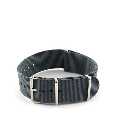 Natostrap Grey Solid Color 22mm