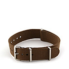 Natostrap Brown Solid Color 18mm