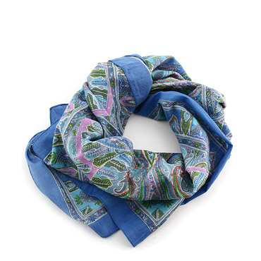 Blu Cotton Scarf by Erfurt