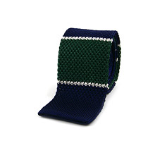 Green Knitted Ties