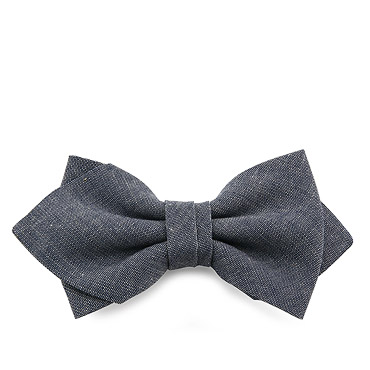 Grey Tied Bow tie