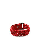 Red Cotton plaited unisex bracelet