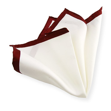 Handkerchief with Bordeaux Edge