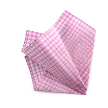 Pink Checked Handkerchief
