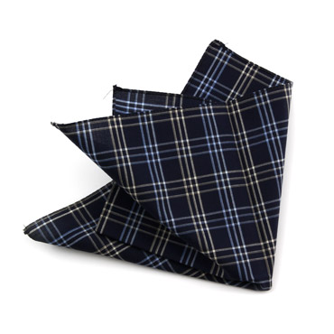 Blu Checked Handkerchief