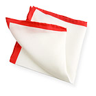 Handkerchief with Red Edge