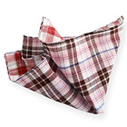 Pink Little Checked Double Face Handkerchief