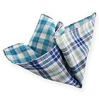 Azure Little Squared Double Face Handkerchief