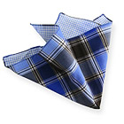 Blue Tartan Double Face Handkerchief