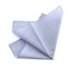 Light Blu Checked Handkerchief