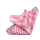 Double Face Pink Checked Handkerchief