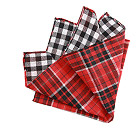 Red Tartan Double Face Handkerchief