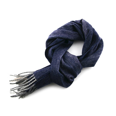 Wool Blue Striped Scarf