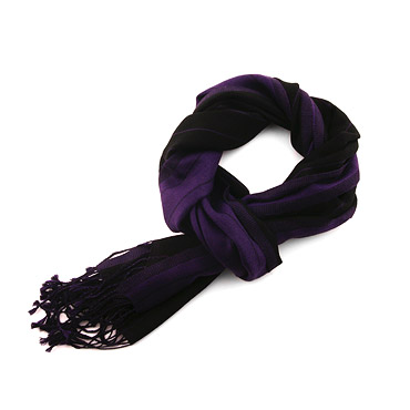 Wool Violet Striped Scarf