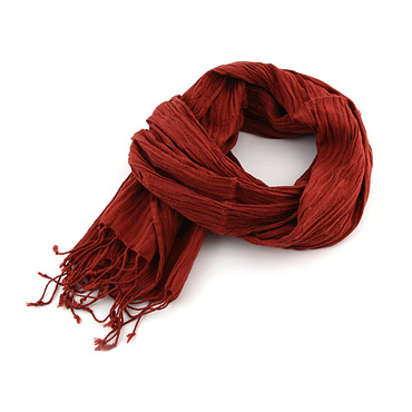 Bordeaux Cotton Scarf