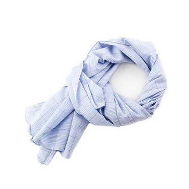 Light Azure Cotton Scarf