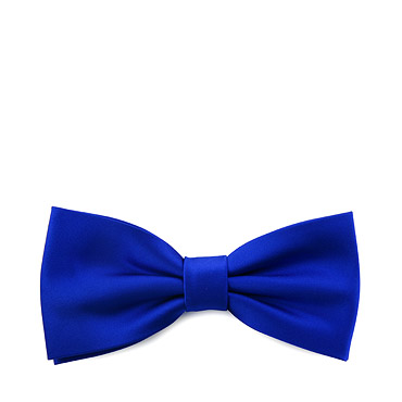 Blue Tied Bow tie
